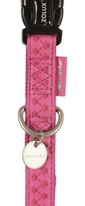 Macleather halsband roze (20 MMX35-50 CM)