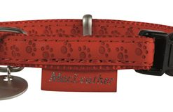 Macleather halsband rood (25 MMX45-70 CM)