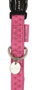 Macleather halsband roze (15 MMX20-40 CM)